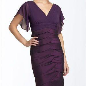 NWT Adrianna Papell Violet Chiffon Dress